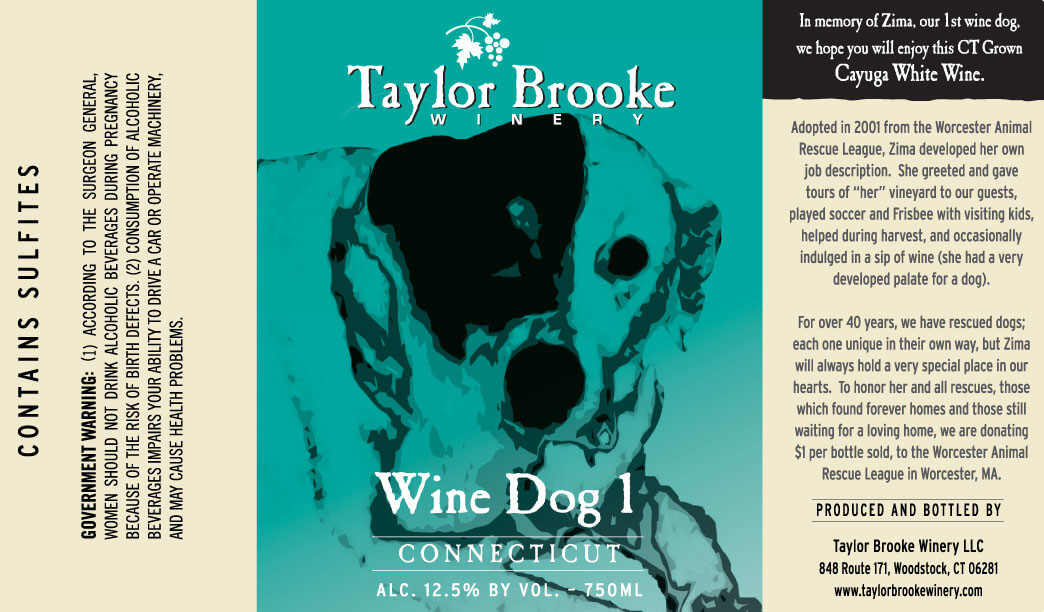 Wine Dog 1 Label
